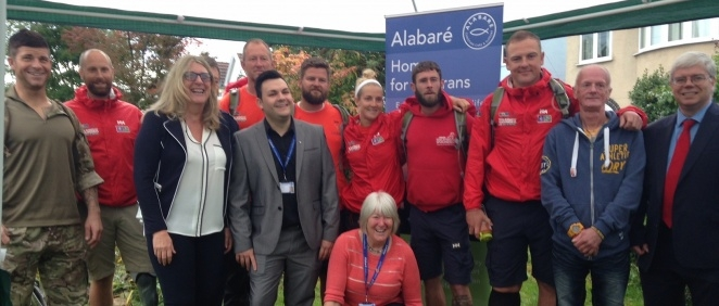 Homes for Veterans hosts Walk of Britain Team