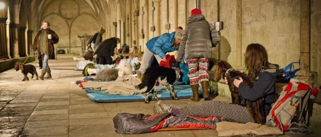 Fundraisers brave the cold for the BIG Sleep