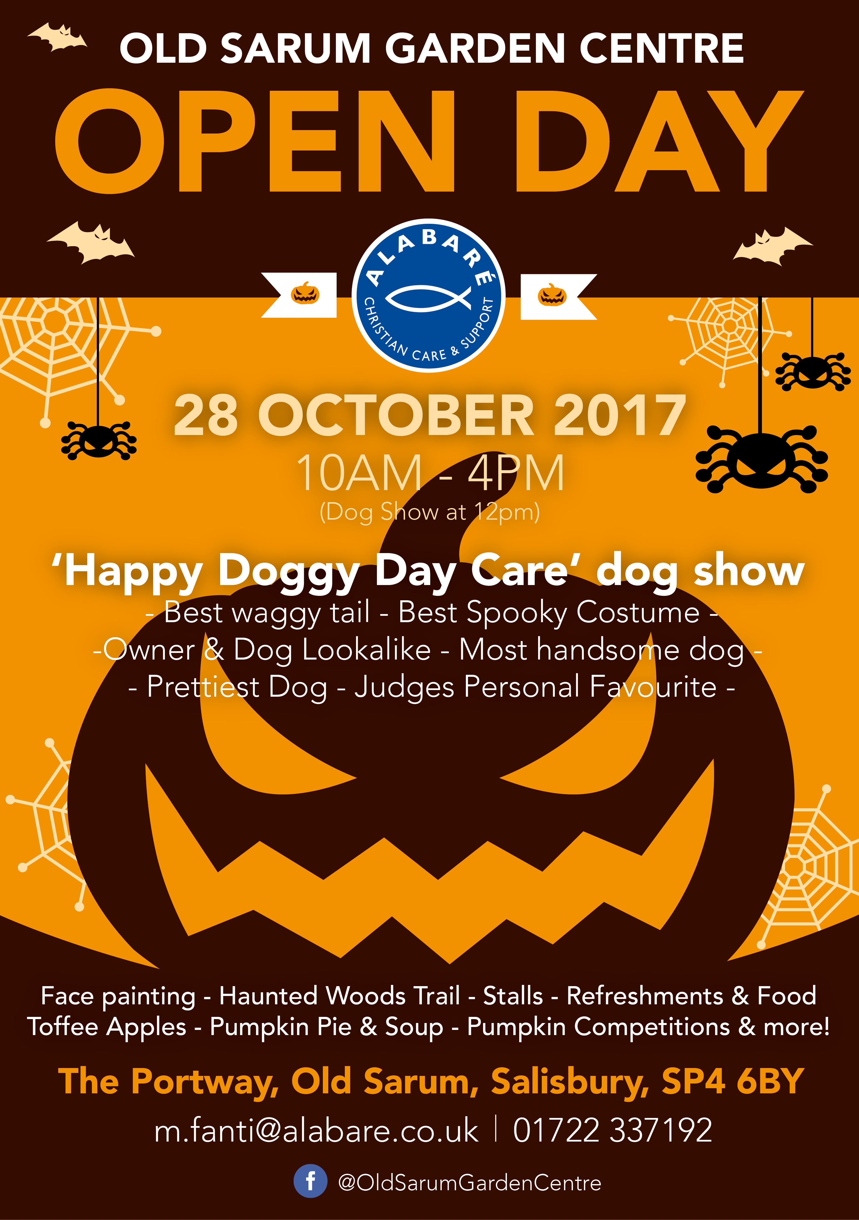 Old Sarum Garden Centre Alabare Open Day October Halloween