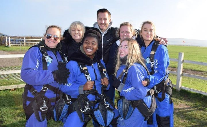 Alabare charity skydive old sarum go skydive salisbury wiltshire