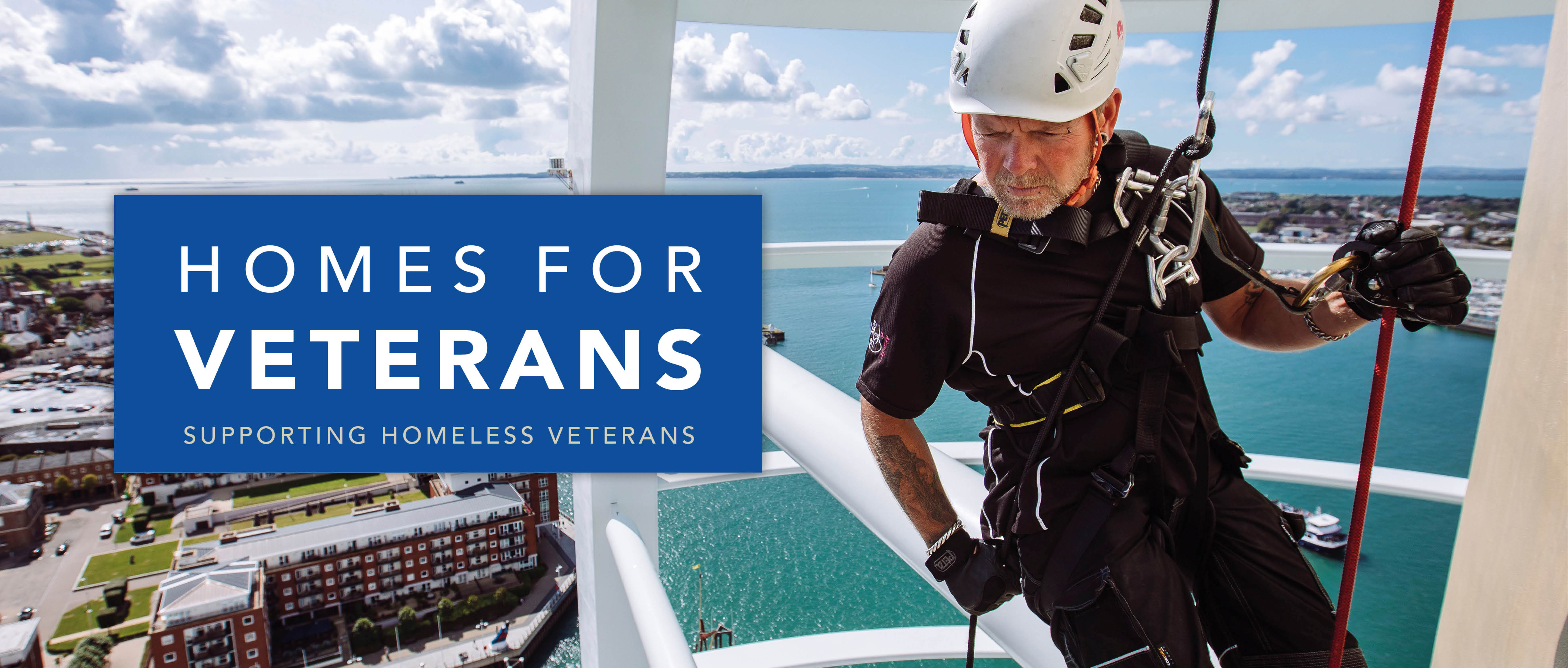 spinnaker tower abseil homes for veterans charity fundraise alabare